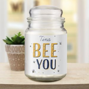 Personalised Bee You Candle Jar