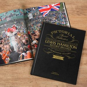 Personalised Lewis Hamilton Record Breaker A Pictorial Newspaper Book