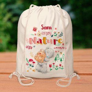 Personalised Me To You Enjoy Nature Drawstring Bag