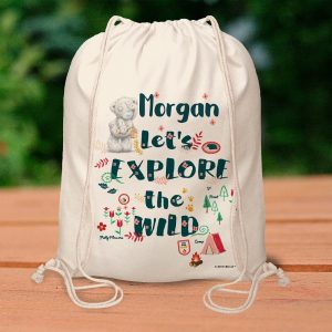 Personalised Me To You Let's Explore the Wild Drawstring Bag