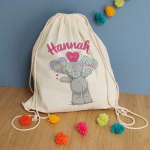 Personalised Me To You Pastel Pop Drawstring Bag