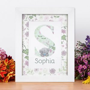 Personalised Me To You Secret Garden Initial Print
