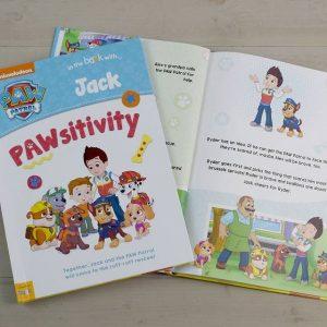 Personalised Paw Patrol Pawsitivity Softback Book