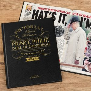 Personalised Prince Philip A Pictorial Newspaper Book