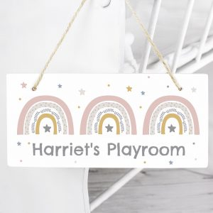 Personalised Rainbow Wooden Sign