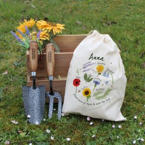 Personalised Save The Bees Gardening Tool Set