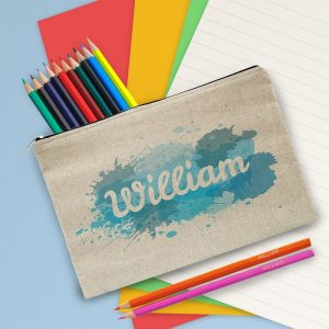 Personalised Splash Pencil Case with Pencils