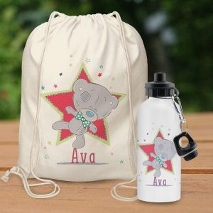 Personalised Tiny Tatty Teddy Little Circus Bag & Bottle Set