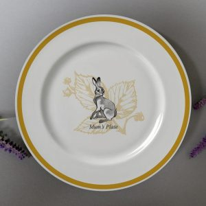 Personalised Watership Down 8″ Rimmed Plate – Clover