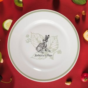 Personalised Watership Down 8″ Rimmed Plate – Fiver