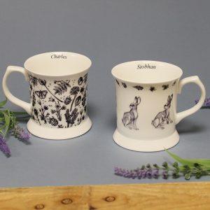 Personalised Watership Down Bone China Mug Set