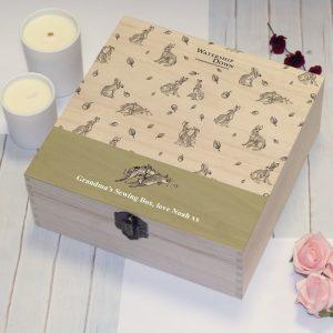 Personalised Watership Down Rabbit Pattern Storage Box
