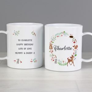 Personalised Woodland Animals Plastic Mug