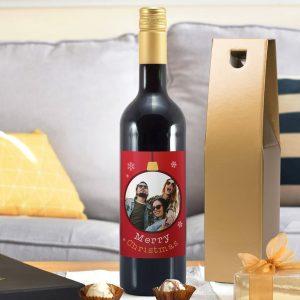 Christmas Bauble Photo Upload Mulled Wine