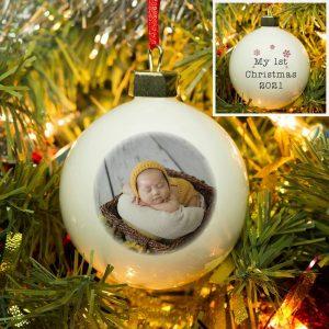 My 1st Christmas Photo Upload Bauble
