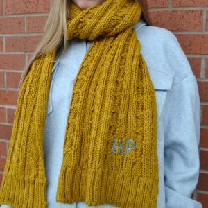 Personalised Cable Knit Scarf