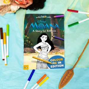 Personalised Moana Colouring Storybook