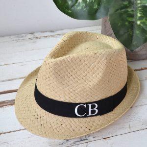 Personalised Monogram Men's Straw Hat
