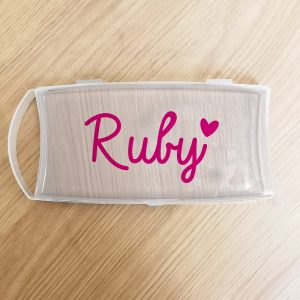 Personalised Pink Name Plastic Pencil Case