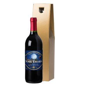 Personalised Santa Red Wine & Gift Box