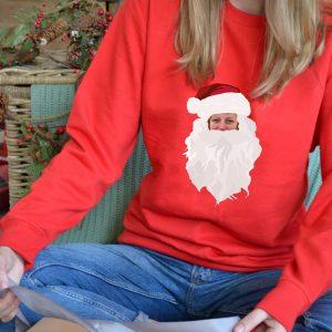 Santa Face Photo Upload Jumper