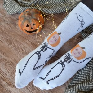 Skeleton Photo Upload Socks