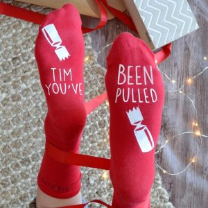Personalised You've Been Pulled Christmas Cracker Socks