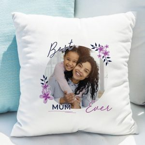 Floral Best Ever Photo Upload Cushion
