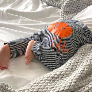Personalised Baby Halloween Pumpkin Leggings