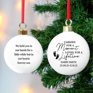 Personalised Carried For A Moment Bauble
