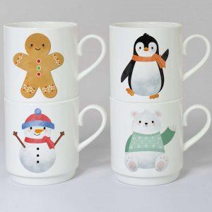 Personalised Christmas Character Stacker Mug