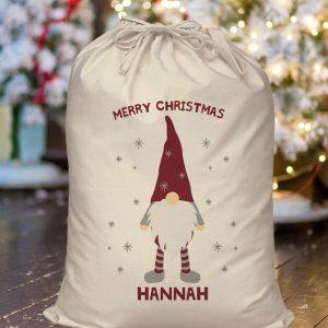 Personalised Gonk Christmas Sack