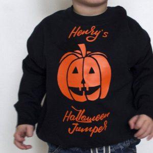 Personalised Halloween Jumper Pumpkin