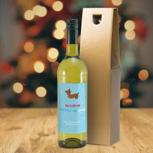 Personalised HotchPotch Dachshund Through The Snow White Wine
