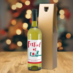 Personalised HotchPotch Festive As White Wine