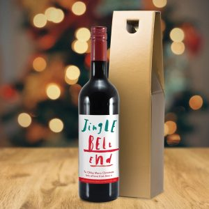 Personalised HotchPotch Jingle Bell Red Wine