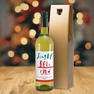 Personalised HotchPotch Jingle Bell White Wine