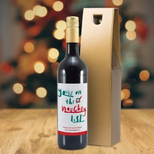 Personalised HotchPotch Naughty List Mulled Wine