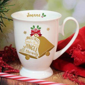 Personalised Jingle Bells Marquee Mug