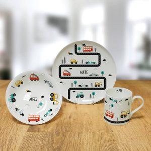 Personalised Little Car Breakfast Set