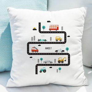 Personalised Little Car Cushion