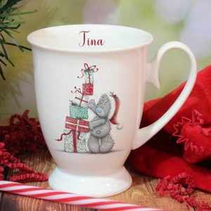Personalised Me To You Christmas Presents Marquee Mug