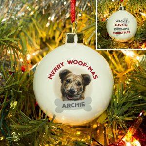Personalised Merry Woof-Mas Bauble