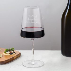 Personalised Power Wine Glass