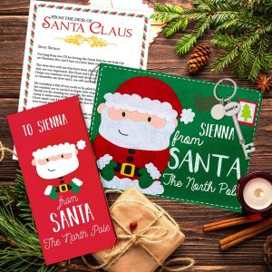 Personalised Santa Key Chocolate Bar and Envelope Gift Set