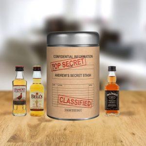 Personalised Secret Stash Whisky Gift Set