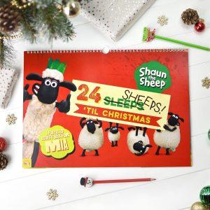 Personalised Shaun the Sheep '24 Sheeps' Activity Advent Calendar