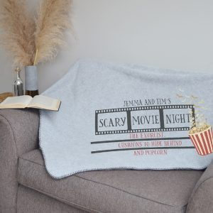 Scary Movie Night Personalised Blanket