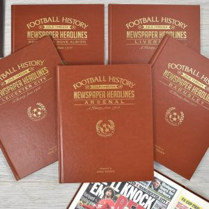 Personalised A3 Leatherette Football Newspaper Book For Any Team