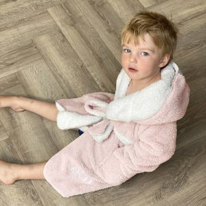 Personalised Children's Reversible Hooded Dressing Gown